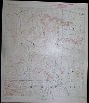 Sweetwater Texas Nolan Taylor Runnels Coke vintage 1922 old USGS Topo chart