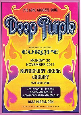 Deep Purple Cardiff Motorpoint Arena Concert Tour Flyer