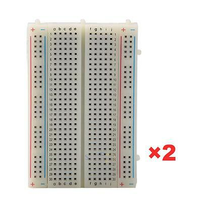 Solderless Breadboard Bread Board 400 Contacts Available Test Develop DIY 2Pcs