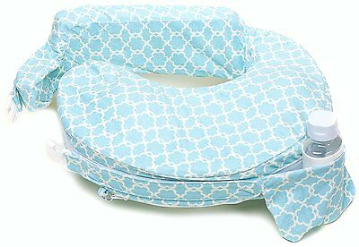 My Best Friend Nursing Pillow Deluxe Slipcover Flower Key Sky Blue White New