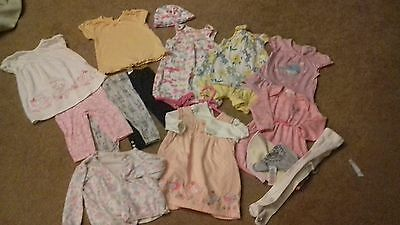 LARGE BUNDLE OF GIRLS CLOTHES - 3-6 MONTHS - MOST NEXT - NEW AND USED - daisy ba