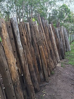 Old Farm Timber Fence Posts