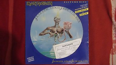 Iron Maiden Seventh Son Of A Seventh Son . Picture Disc 1988 Italy .very Rare!!!