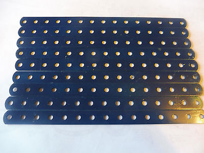 Meccano 9 Blue 7.5 inch Perforated Strips No 1a