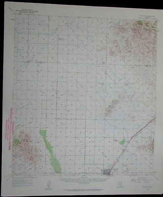 Willcox Arizona Coronado National Forest vintage 1959 old USGS Topo chart