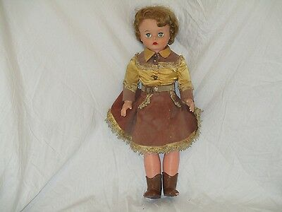 1950s ANNE OAKLEY Sweet Sue 21 inch Doll - shows signs of play - dirty