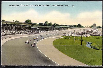 """Indianapolis, Ind., Pacing Lap, Start of Race, Motor Speedway, Genuine """"Diana"""""""