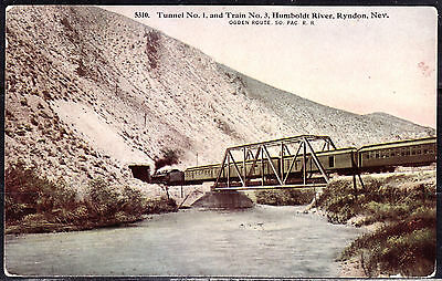 Ogden Route, So. Pac. R. R., Tunnel 1, Train 3, Humboldt River, Ryndon, Nevada