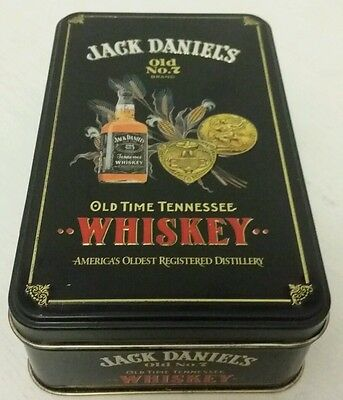 Collectable, empty Jack Daniels Whiskey old No.7 tin