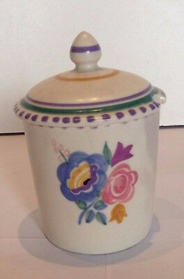 Poole pottery conserve/jam pot signed by artist NM