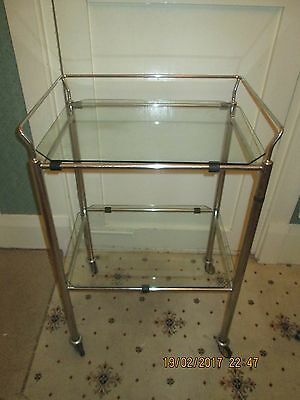 vintage glass medical table /trolley chas .F Thackray ltd