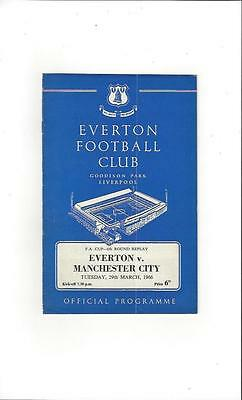 Everton v Manchester City FA Cup Replay Football Programme 1965/66