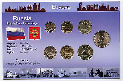 Russia 1998 - 2007 Coin Set Collection - Europe Russian & Cachet Panel - AJ763
