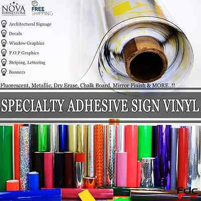 "Specialty Adhesive Sign Vinyl 24"" x 12"" (1 Foot)  ** FREE SHIPPING **"