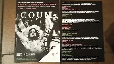 Coum Transmissions Exhibition Hull 17 - Badges, Flyer & Guide-Throbbing Gristle