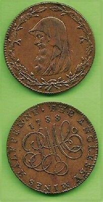 Great Britain.    ANGLESEY ½ penny Token.    1788.