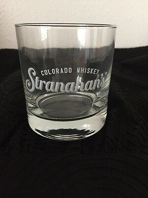 STRANAHAN'S Colorado Whiskey Old Fashioned Etched Tumbler Rocks Glasses