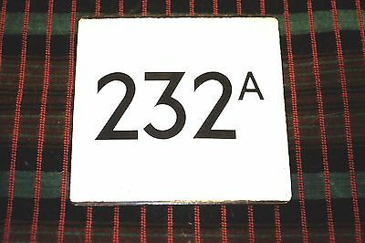 LONDON TRANSPORT BUS STOP E-PLATE for Route 232A [1973-9] Hounslow Yeading