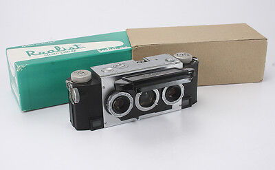 WHITE STEREO REALIST 2.8 OLDEN CAMERA, WITH BOX AND CARDBOARD WRAPPER/cks/189693