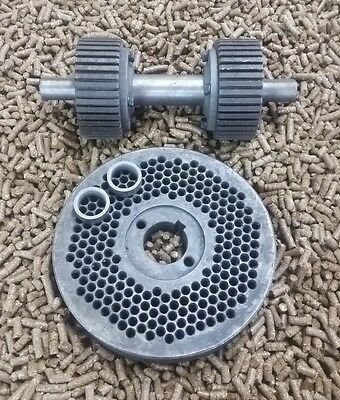 "8"" (200mm) Roller Assembly and Die for Replacement or Homemade Pellet Mill - NEW"