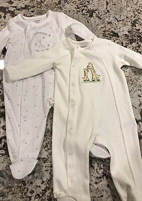 NWT 2 BABY UNISEX SLEEPERS/ ONE PIECE OUTFIT SIZE 6m