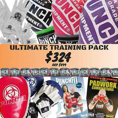 Ultimate Training Pack Boxing Gloves, mitts, handwraps, inners, combo book, DVD