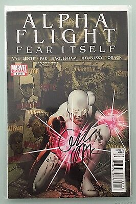 ALPHA FLIGHT #1 (OF 8) FEAR ITSELF MARVEL COMICS, Limited Series Signed 23/150