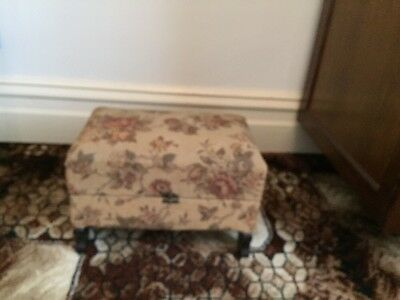 Antique Tapestry Sewing Box