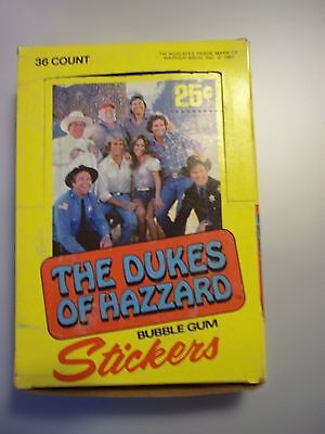 Dukes of Hazzard full box of trading card stickers