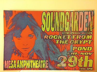 FRANK KOZIK Print SOUNDGARDEN ROCKET FROM THE CRYPT Poster SIGNED NUMBERED