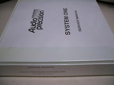 Audio Precision System One Service Manual