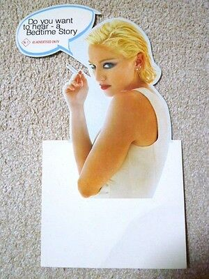 MADONNA - BEDTIME STORIES : Australia promo-only die-cut DISPLAY Card  very rare