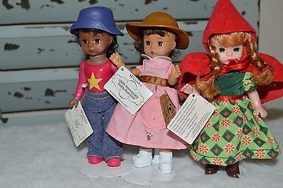 Exclusively For Mcdonalds 3 Madame Alexander Miniature Dolls.
