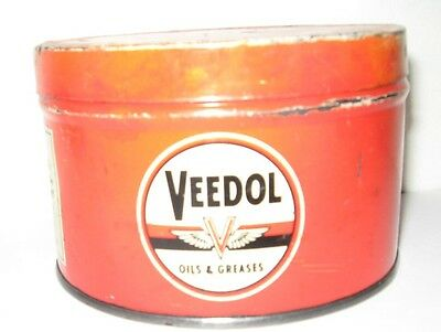 Veedol Vintage Oil & Grease Cans Rare Gasoline Collectible Oil Advertiser 1940s.