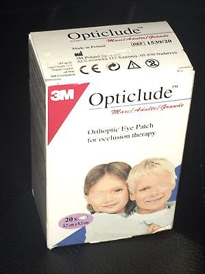 Opticlude orthoptic eye patch for occlusion therapy, pack of 20, 5.7cm x 8.2cm