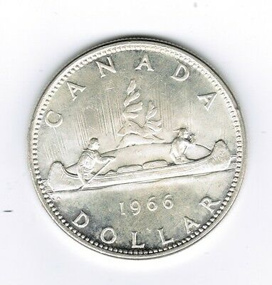 1966 Canadian  Silver Dollar Coin  Circulated
