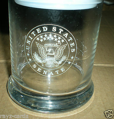 United States Senate All Glass Candy/or what have u Glass. Eagle emblem.