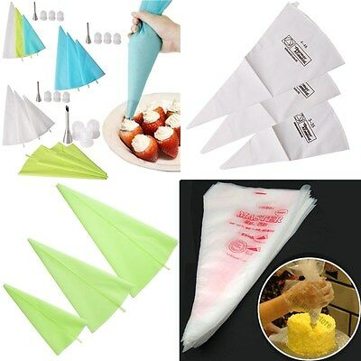 Reusable/Disposable Cake Decorating Icing Piping Nozzle Bag Tool Sugercraft Set