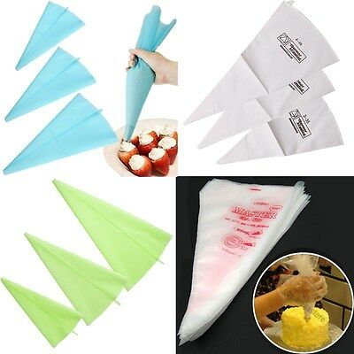 Reusable/Disposable Cream Pastry Bag Cake Icing Piping Decorating Bags Tools
