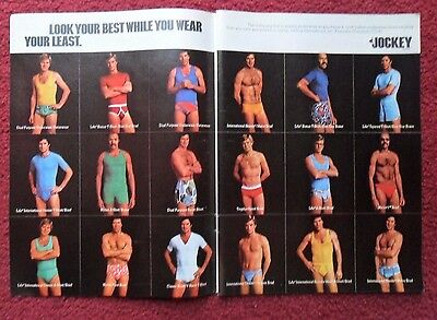 1976 Print Ad Jockey Men's Underwear Briefs ~ Look Your Best Wear Your Least 2PG
