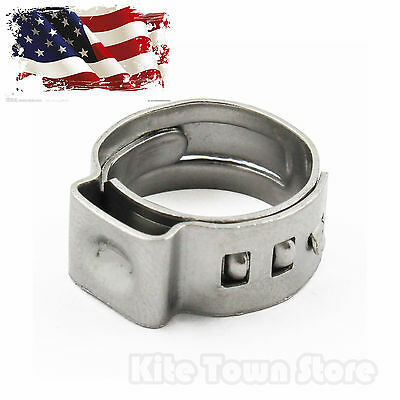 50 PCS - 5/8 PEX Stainless Steel Clamp Cinch Rings Crimp Pinch Fitting