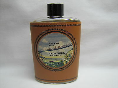Vtg Swing Bridge Rock City Gardens Lookout Mountain Chattanooga Tennessee Flask