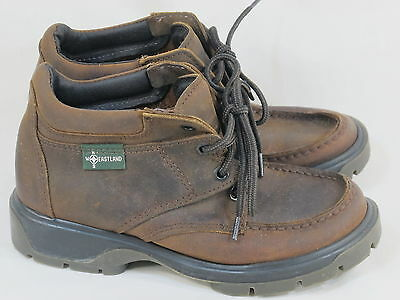 Eastland Brown Leather Lace up Ankle Boots 7 M US Excellent Condition
