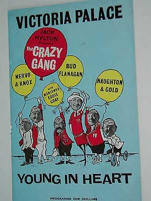 "THEATRE PROGRAMME ""Variety""....1940s...THE CRAZY GANG........FREE POSTAGE"