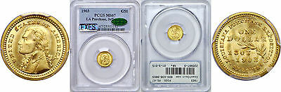 1903 La. Purchase - Jefferson $1 Gold Commemorative PCGS MS-67 CAC