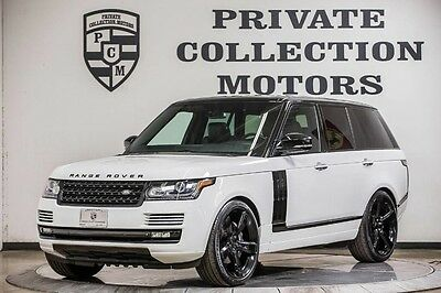 2014 Land Rover Range Rover Supercharged Sport Utility 4-Door 2014 Range Rover Supercharged 1 Owner Clean Carfax Low Miles Well Kept