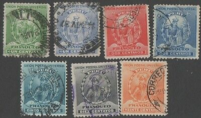 Peru.  1896 -1900 Personalities. Cancelled