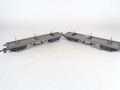 TRIANG R110 Grey Bogie Bolster Flat Wagon 129803 -EXCL PAIR