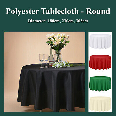 180cm Round Polyester Tablecloth Table Cover Cloth Economy Home Décor Living