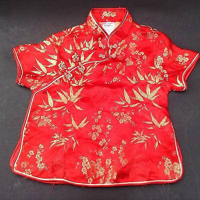 Childs Asian Oriental Japanese Chinese Shirt By Kevin-T Sz 6  75% Silk  Costume